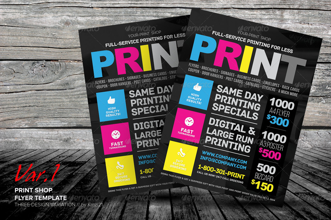 printing press brochure template - print shop flyer template by kinzishots graphicriver