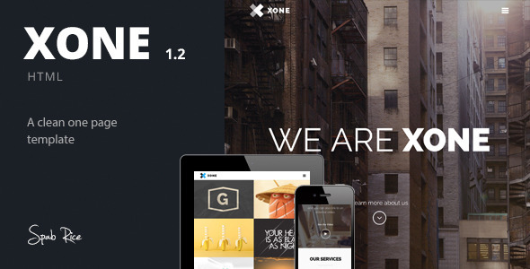 Xone – Clean One Page Template