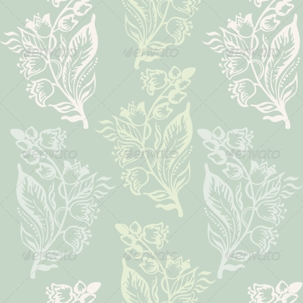 Seamless Pattern with Floral Background - Backgrounds Decorative