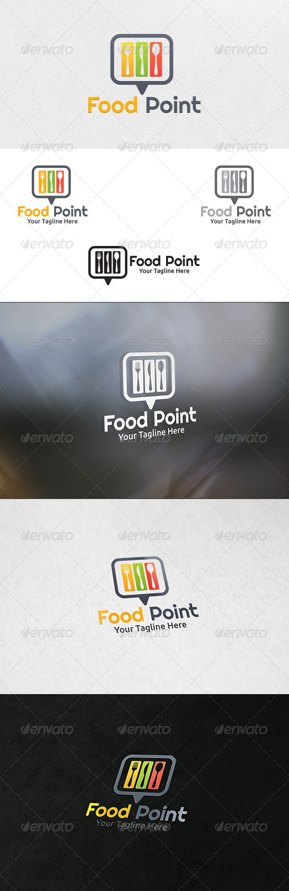 Food Point - Logo Template - Food Logo Templates