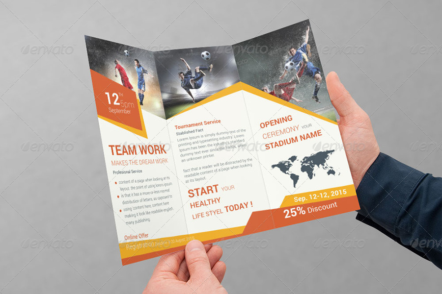 Sports Business Trifold Brochure  Volume  By Dotnpix  Graphicriver