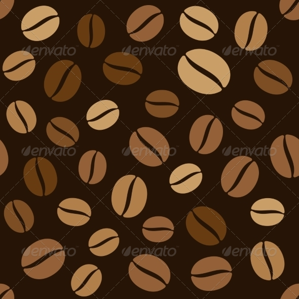 Coffee Beans Seamless Pattern - Patterns Decorative
