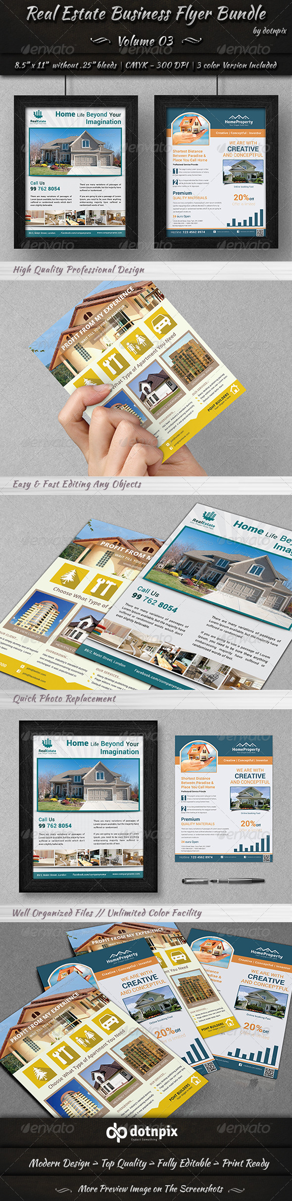 Real Estate Business Flyer Bundle | Volume 3 - Corporate Flyers