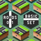 Isometric Roads on Green Terrain - GraphicRiver Item for Sale