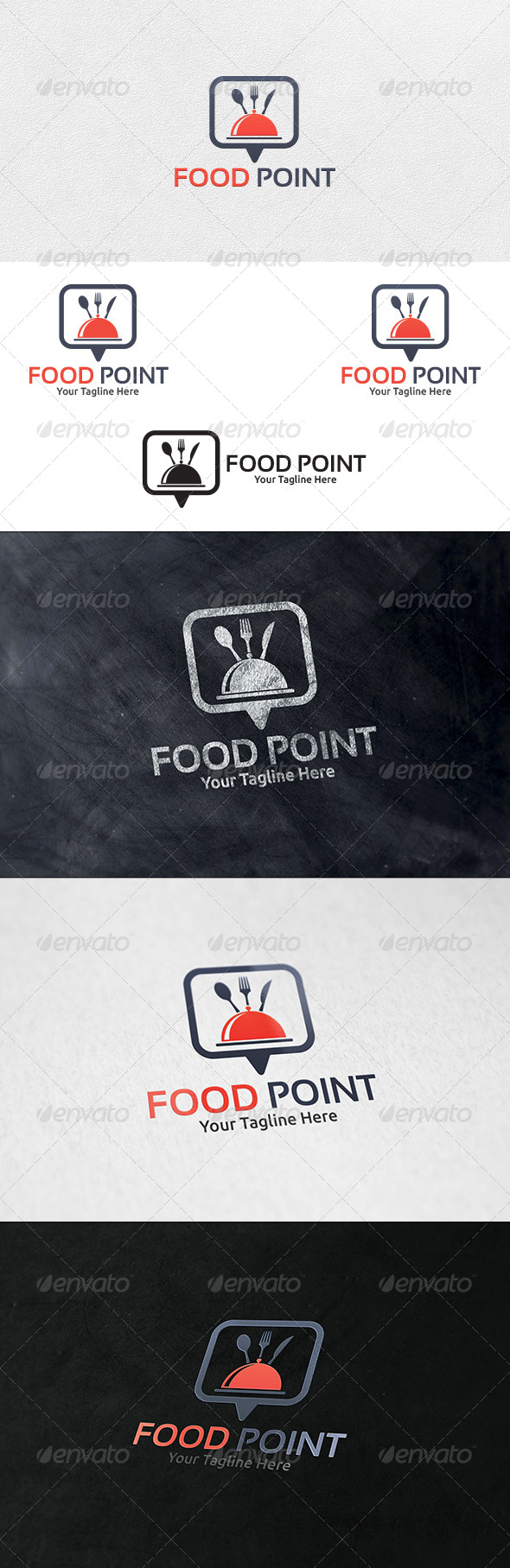 Food Point V2 - Logo Template - Food Logo Templates