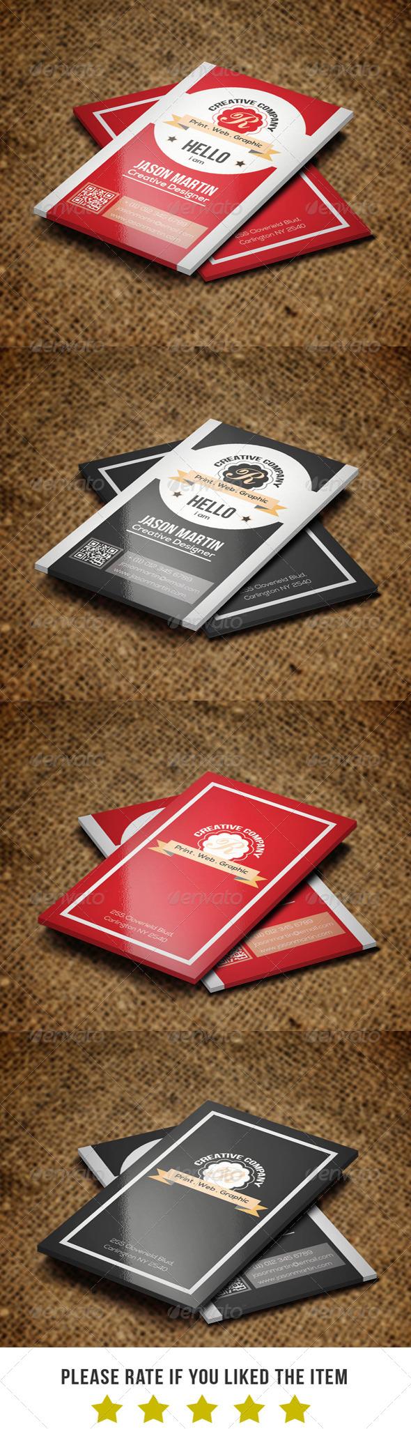 Retro Business card BNA 001 - Retro/Vintage Business Cards