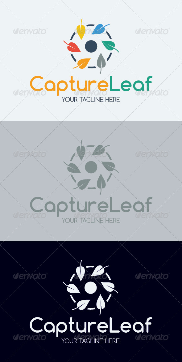 Capture Leaf Logo Template - Nature Logo Templates