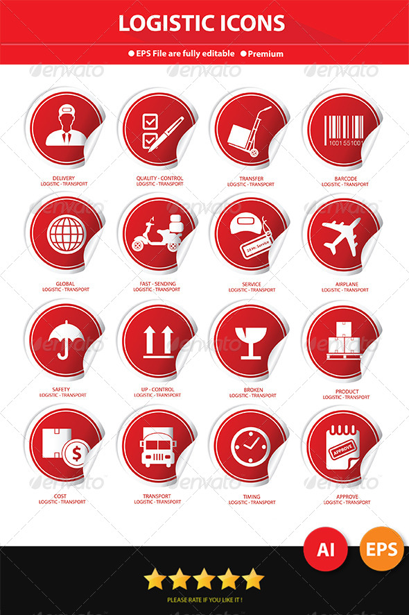 Logistics Label Icons - Icons