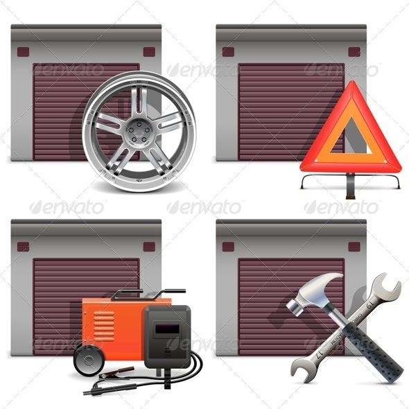 Garage Icons Set 3 - Industries Business