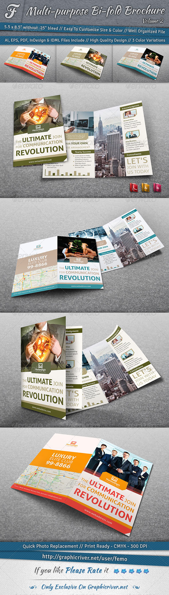 Multi-purpose Bi-fold Brochure | Volume 2 - Corporate Brochures