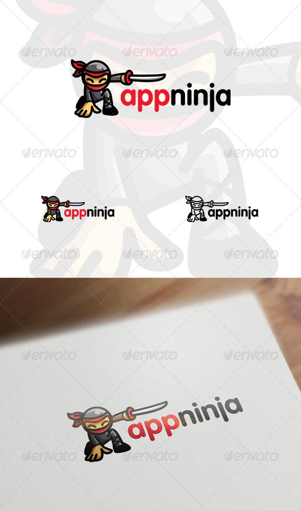 App Ninja - Ninja Mascot / Character Logo - Humans Logo Templates