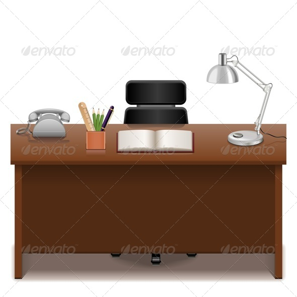 Office Table - Business Conceptual