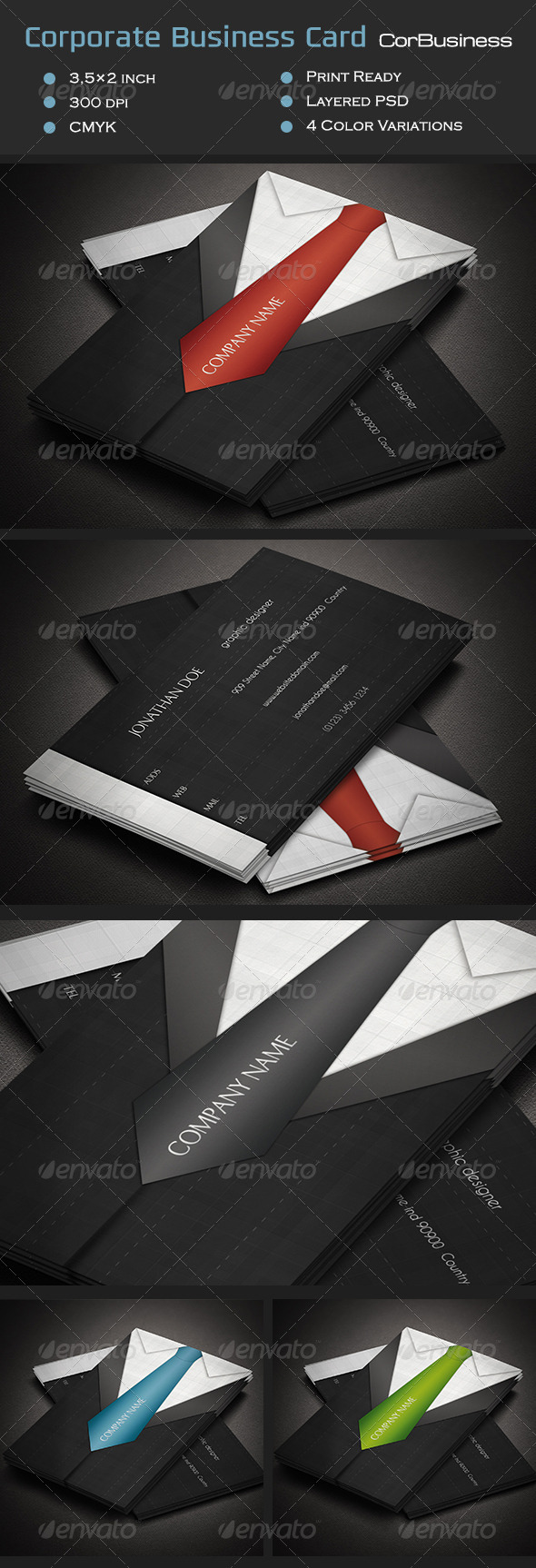 Corporate Business Card CorBusiness - Corporate Business Cards