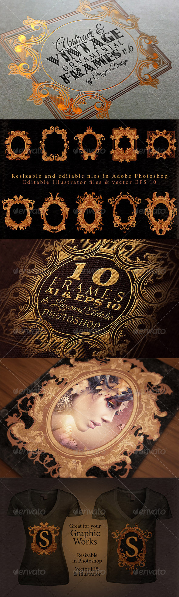 10 Frames Vol.6 - Victorian Ornament - Borders Decorative