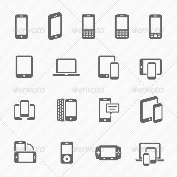 Responsive Design Vector Icons  - Technology Icons