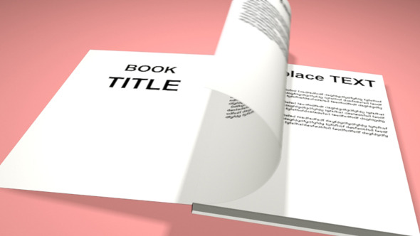 Smooth Book Animation - 3DOcean Item for Sale
