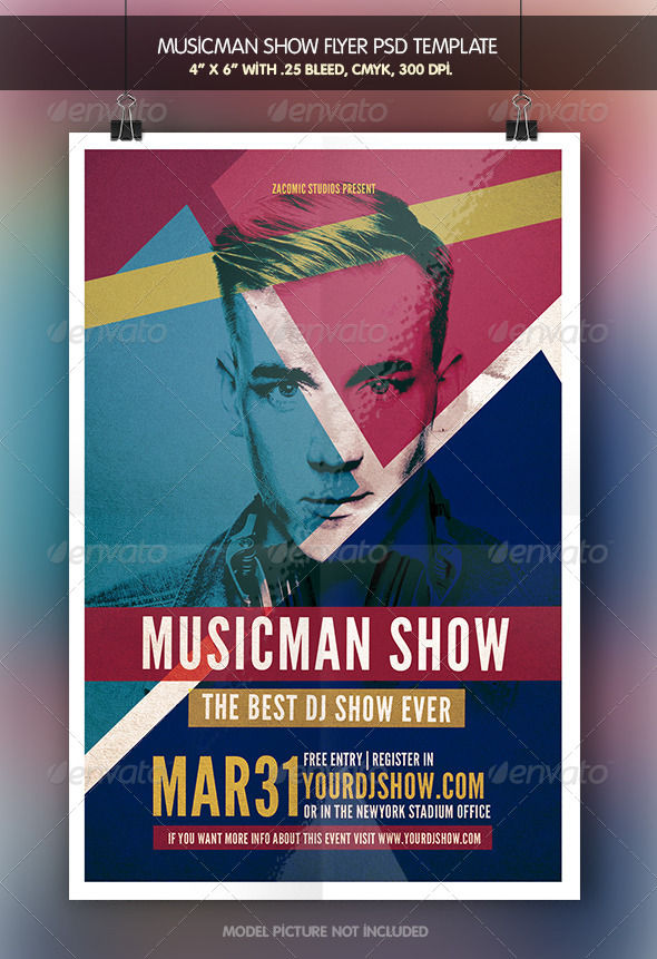 Musicman Show | Flyer Template - Clubs & Parties Events