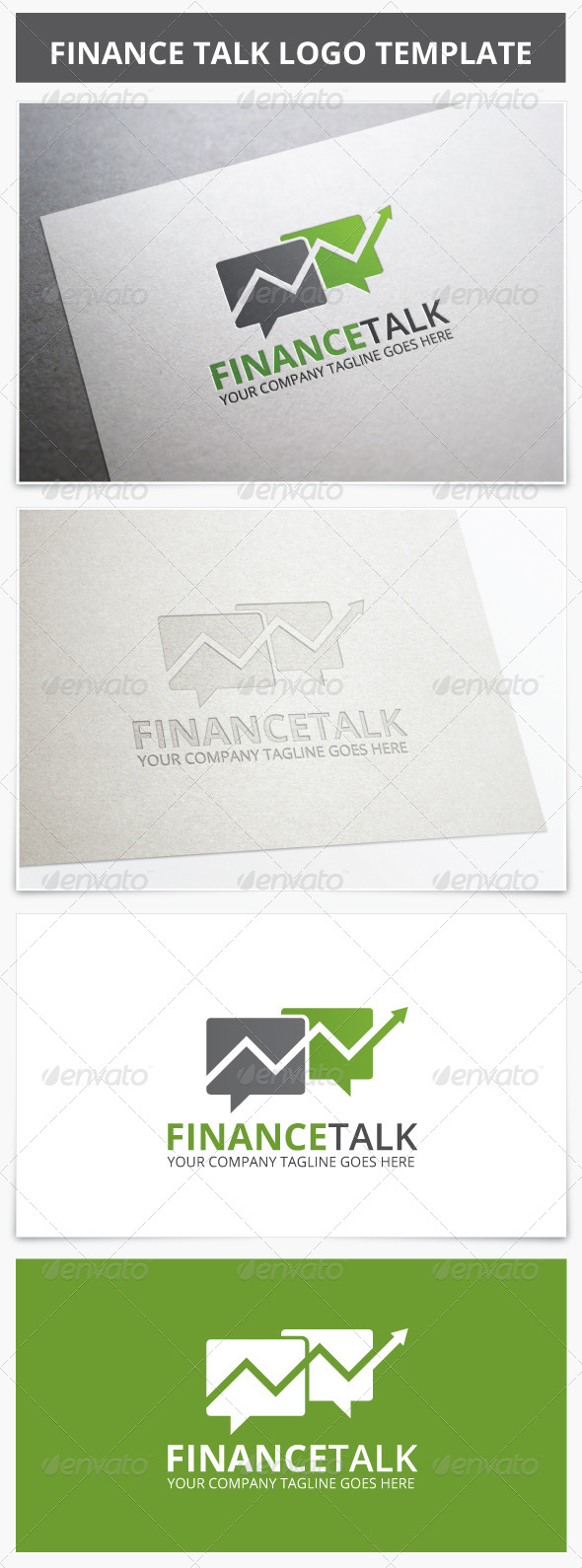 Finance Talk Logo - Vector Abstract