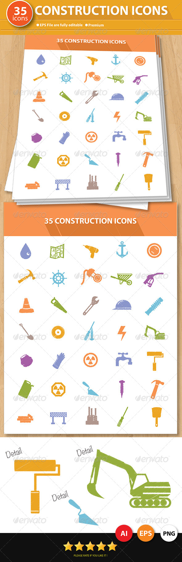 35 Construction Icons - Icons
