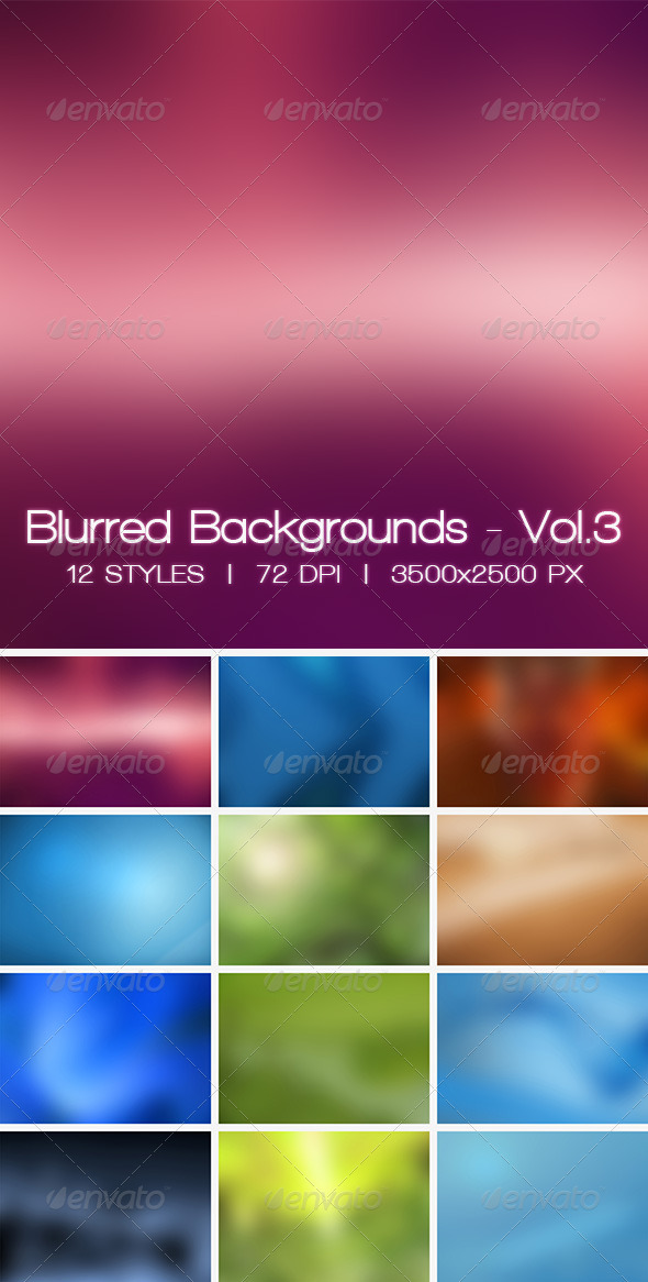 Blur Vol.3 - 12 Blurred HD Backgrounds - Abstract Backgrounds
