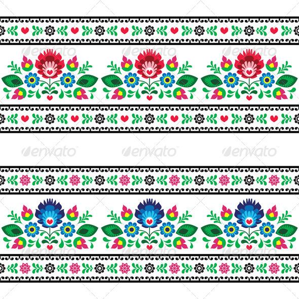 Seamless Polish Pattern - Patterns Decorative