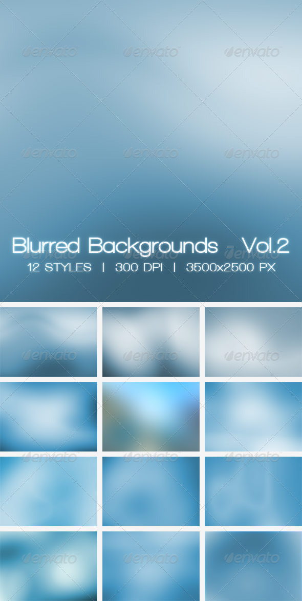 Blur Vol.2 - 12 Blurred HD Backgrounds - Abstract Backgrounds