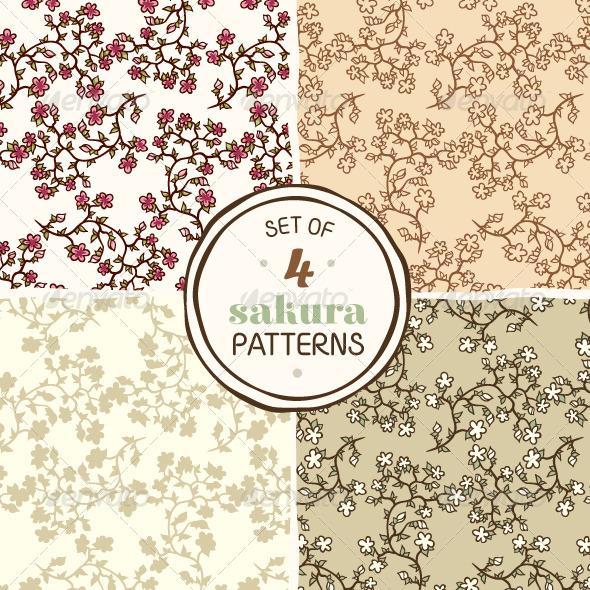 Sakura Patterns - Patterns Decorative
