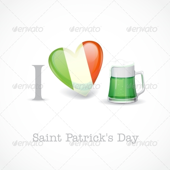 St. Patrick's Day I Love Beer - Miscellaneous Seasons/Holidays