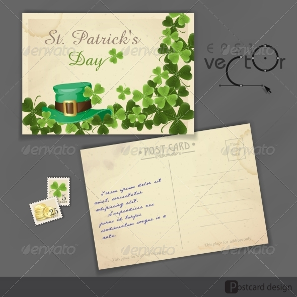 St. Patrick's Day Background With Leprechaun Hat - Miscellaneous Seasons/Holidays