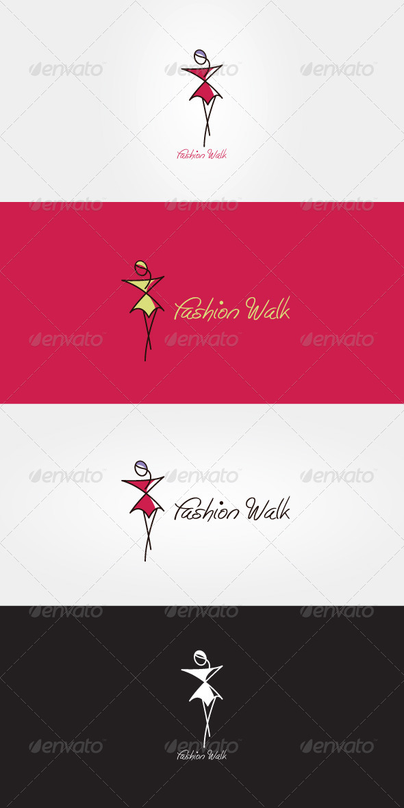 Fashion Walk Stock Logo Template - Humans Logo Templates
