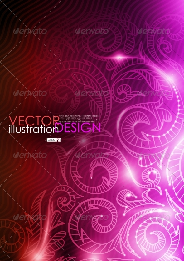 Neon Pattern Background - Backgrounds Decorative