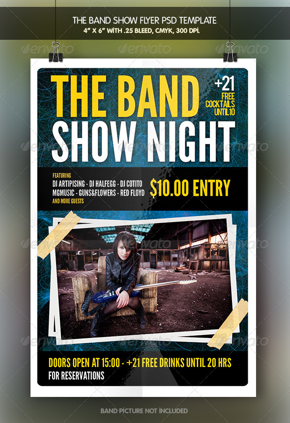 The Band Show | Flyer Template - Concerts Events