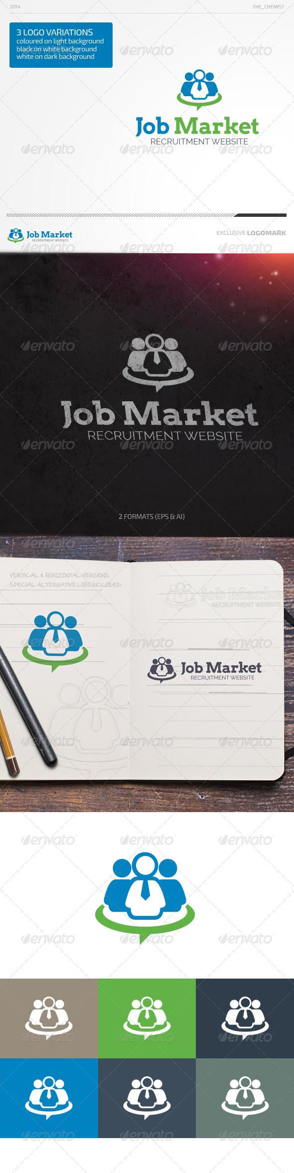 Job Market Logo - Humans Logo Templates