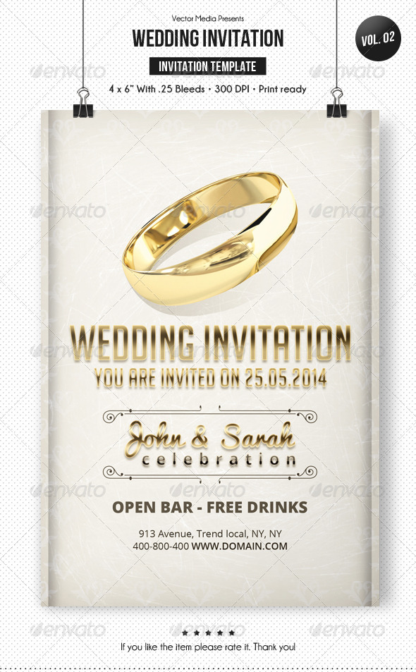 Wedding Invitation [Vol.2]