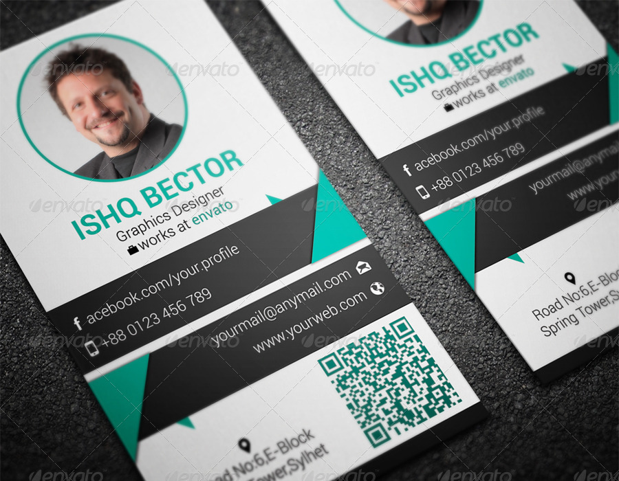 Vertical Professional Business Card