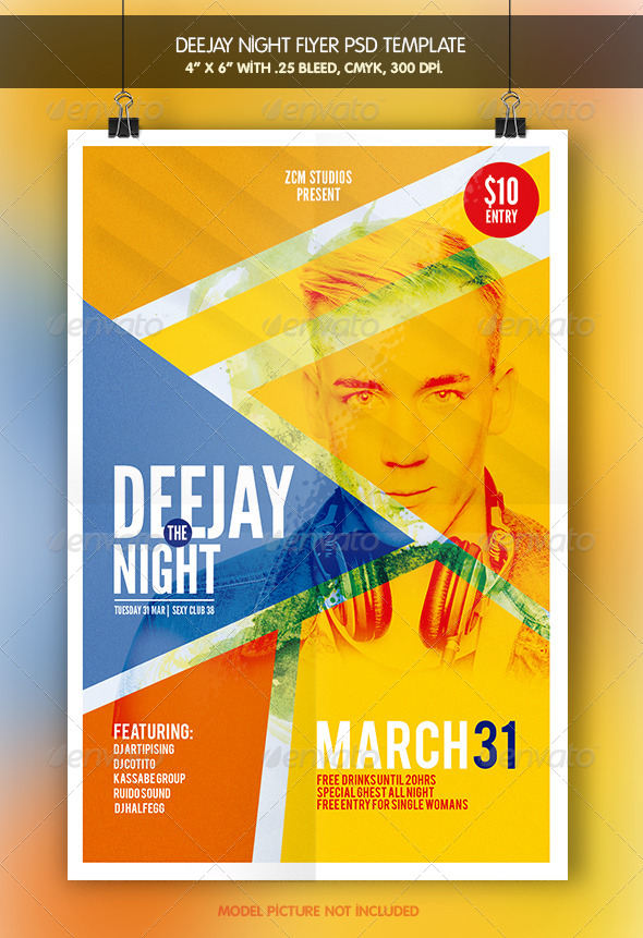 Deejay Night   Flyer Template - Clubs & Parties Events