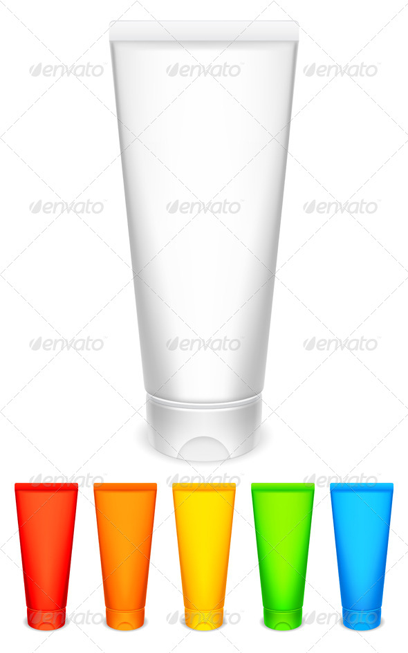 Color Tubes of Cream - Health/Medicine Conceptual