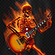 Fiery Skeleton Plays a Guitar - VideoHive Item for Sale
