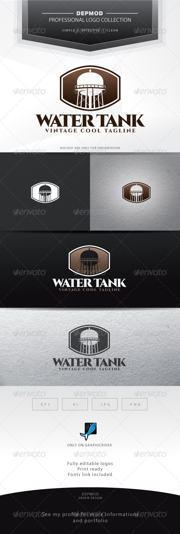 Water Tank Logo - Objects Logo Templates