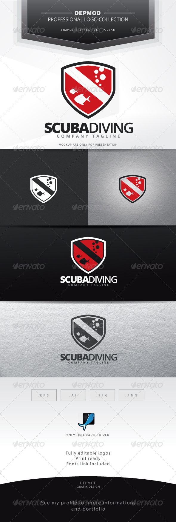 Scuba Diving Logo - Symbols Logo Templates
