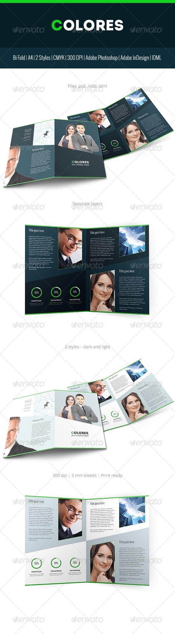 Colores Brochure Corporate Bi Fold - Corporate Brochures