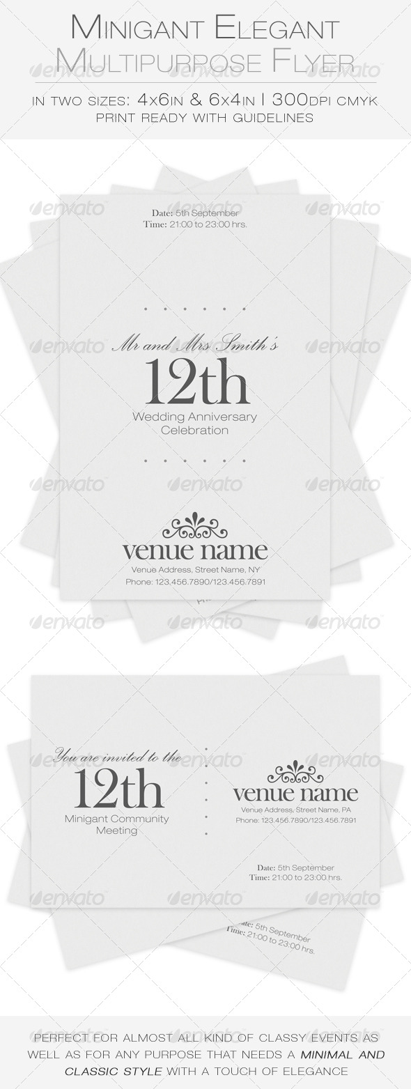 Minigant Elegant Multipurpose Flyer - Miscellaneous Events