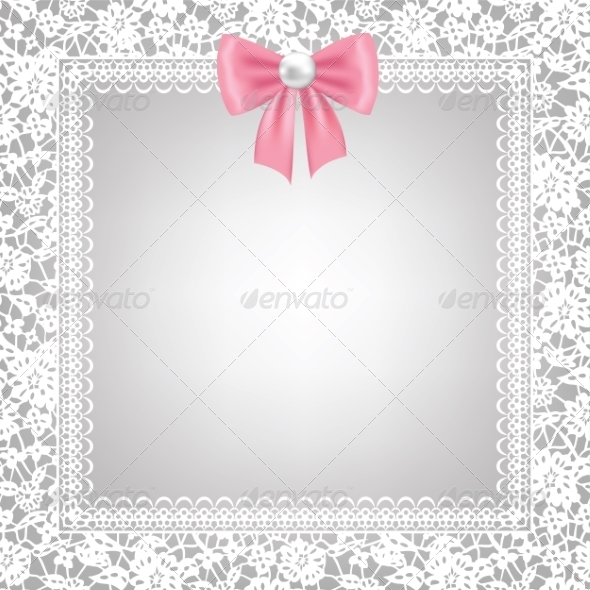 Lace Floral Frame - Backgrounds Decorative