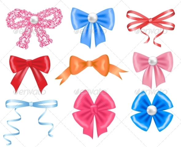 Colorful Bows - Man-made Objects Objects