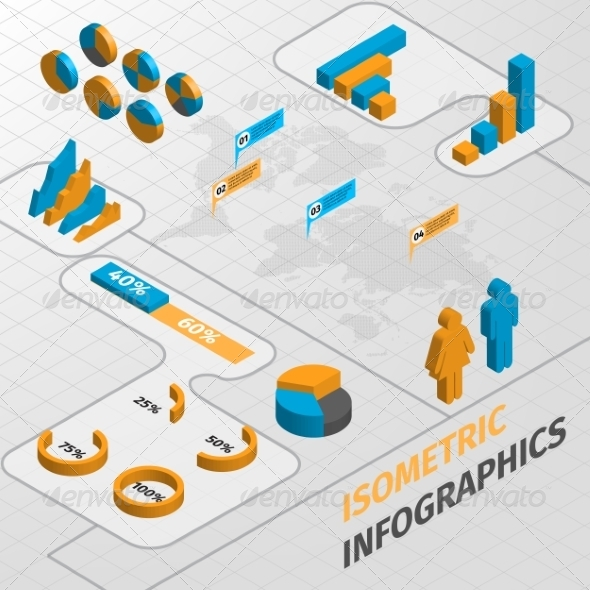 Infographics - Web Elements Vectors