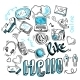 Social Media Doodles - GraphicRiver Item for Sale