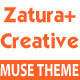 Zatura – One Page Parallax Corporate Muse Theme - ThemeForest Item for Sale
