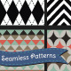 Set of Retro Geometric Seamless Background Pattern - GraphicRiver Item for Sale