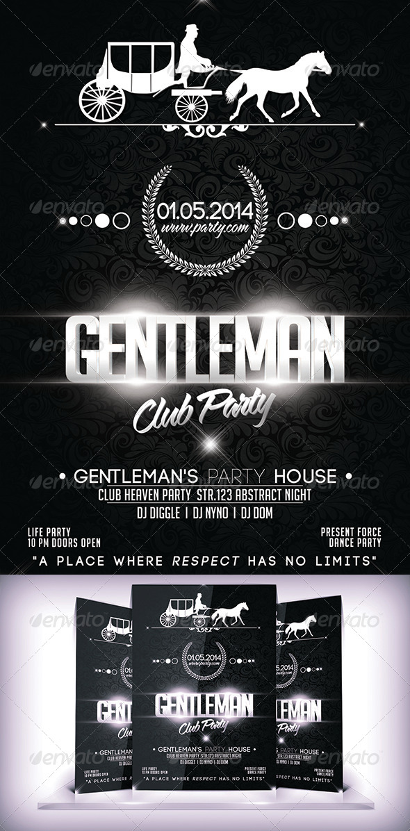 Gentleman  Business Club Flyer - Flyers Print Templates