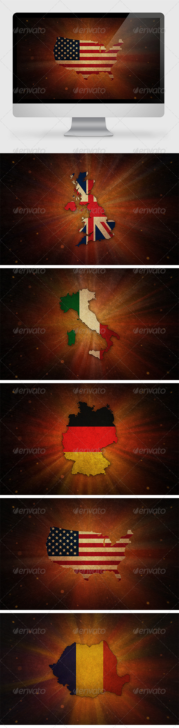 5 Countries Backgrounds - Backgrounds Graphics
